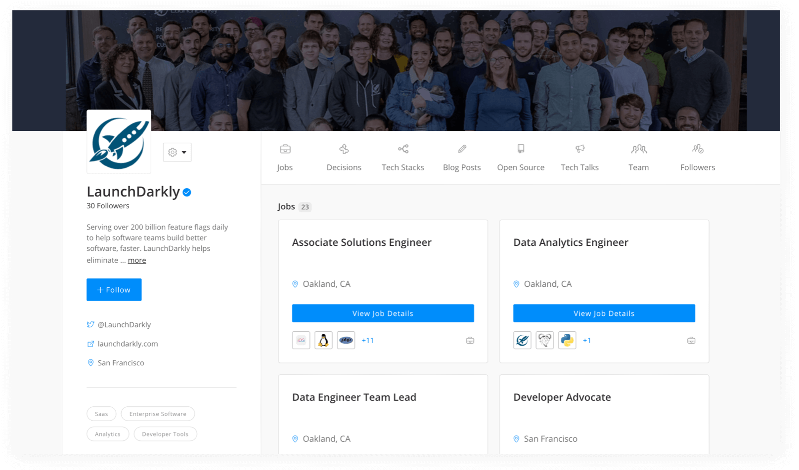 LaunchDarkly Engineering Profile