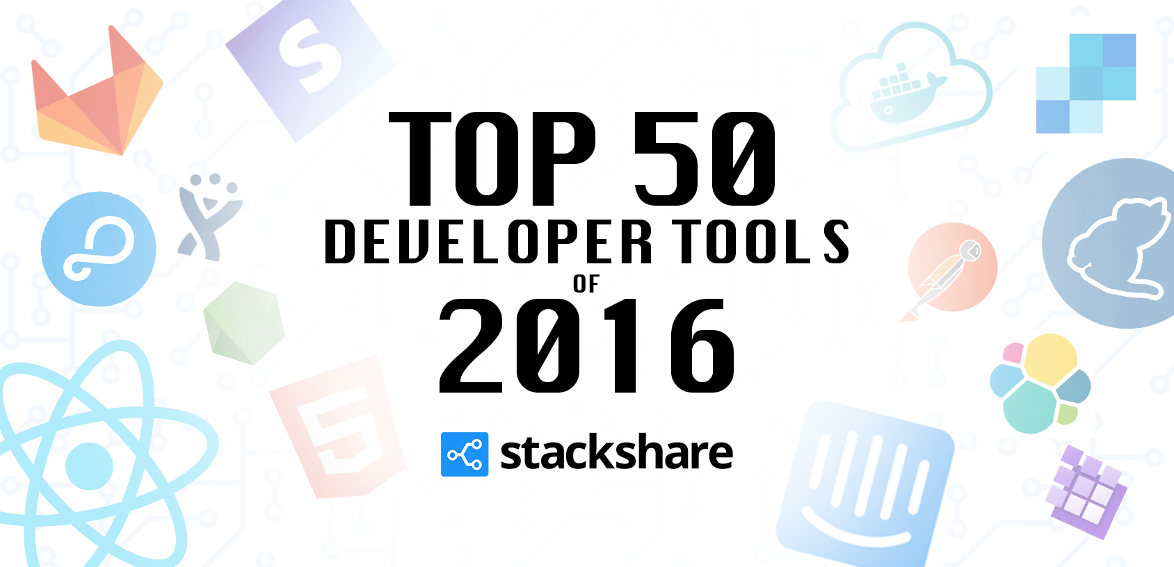 Stackshare top 50 dev tools 2016