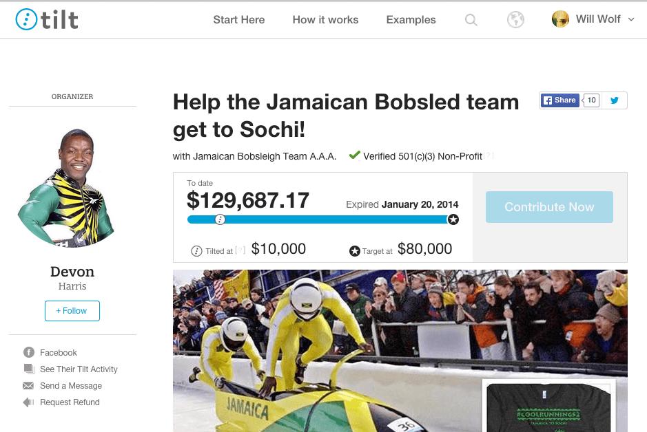 Jamaican Bobsled Tilt Page